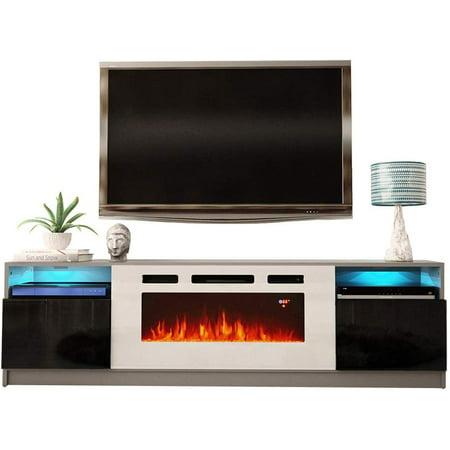 York Wh02 Electric Fireplace Modern 79 Tv Stand Walmart Com