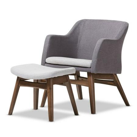 Outstanding Baxton Studio Vera Grey Fabric Lounge Chair And Ottoman Set Walmart Com Machost Co Dining Chair Design Ideas Machostcouk
