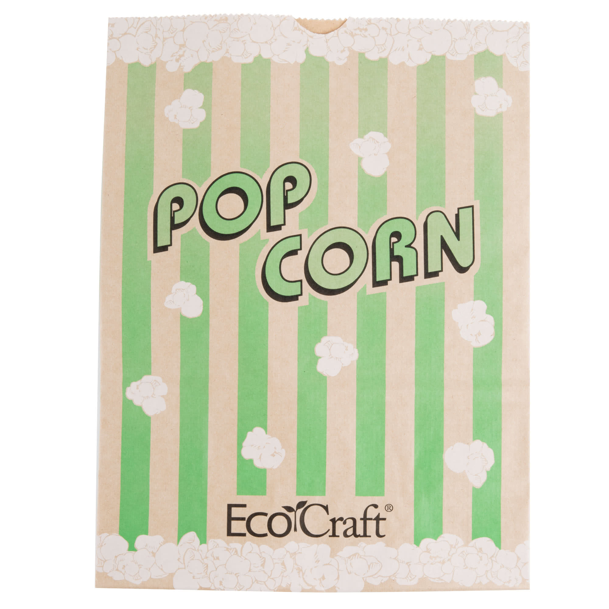 """300613 7 1 2"""" x 3 1 2"""" x 9"""" 130 oz. EcoCraft Popcorn Bag 500 Case By... by TableTop King"""