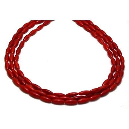 Long Three Strand (Coral Necklaces 3 Strands Coral Beads Beaded Necklace 17