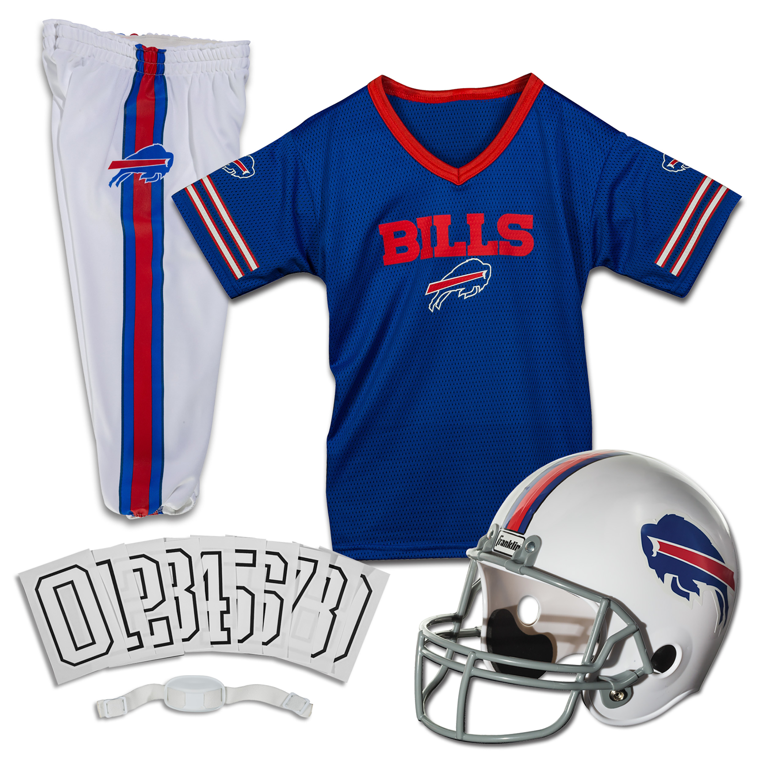 1cb90c381f50 Franklin Sports NFL Youth Deluxe Uniform Costume Football Set (Choose Team  and Size) - Walmart.com