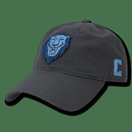 Columbia Cotton Hat - NCAA Columbia University Lions 6 Panel Relaxed Cotton Baseball Caps Hats Dark