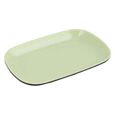 Home Kitchenware Melamine Oval Shaped Food Fruit Vegetable Plate Tray Dish Green