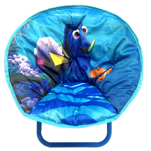 Idea Nuova Finding Dory Toddler Saucer Kids Polyester Novelty Chair