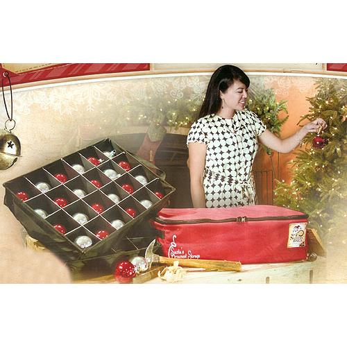 Christmas Ornament Storage Bag - Holds 48 Ornaments