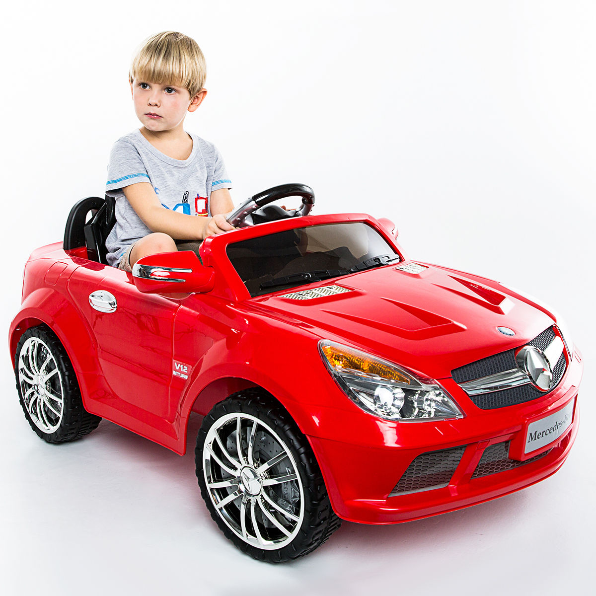 Costway 12V Mercedes-Benz SL65 Electric Kids Ride On Car Music RC Remote Control Red
