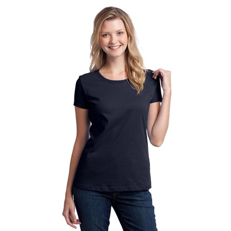 Fruit of the Loom Ladies Heavy Cotton HD 100% Cotton T-Shirt. Navy.