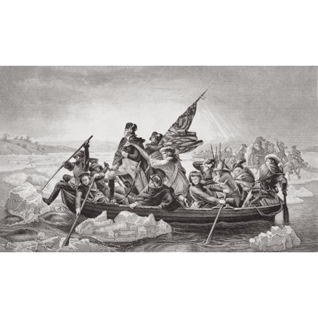 Washington Crossing The Delaware Near Trenton NJ Christmas 1776 George Washington 1732-1799 First President Of The United States Engraved By F Merckel After E Leutze From The Book Illustrations Of Eng - Halloween Parties Near Me Nj