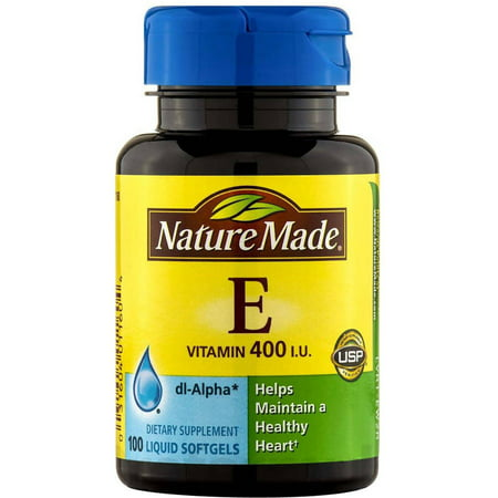 Nature Made Vitamine E capsules, 100 CT (pack de 3)