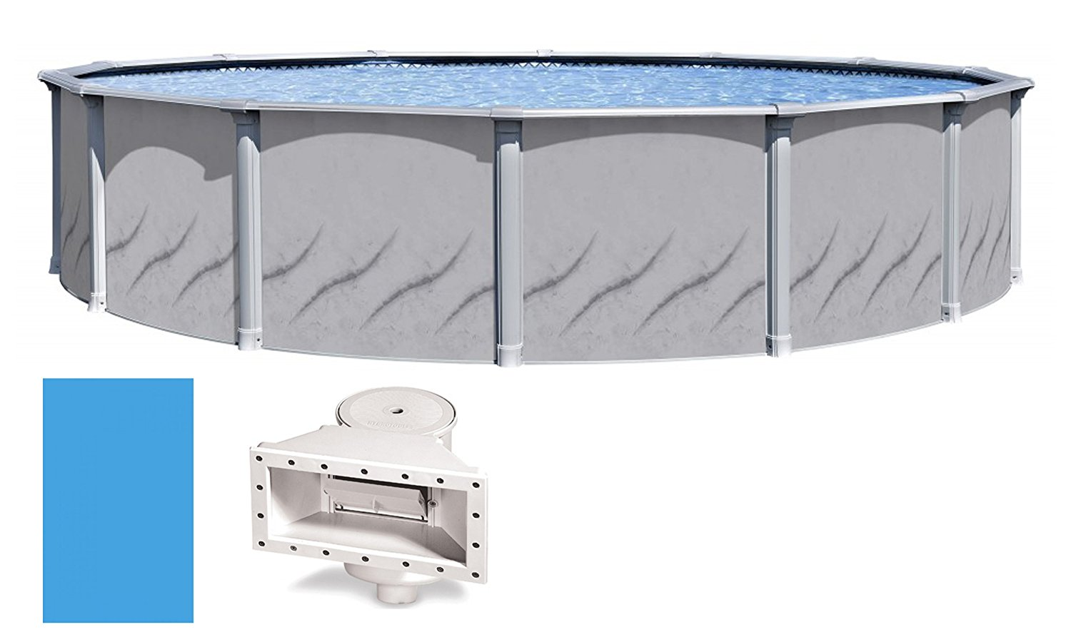 """Galeria Round Above-Ground Swimming Pool   52"""" Height {Choose Size} by Wilbar"""