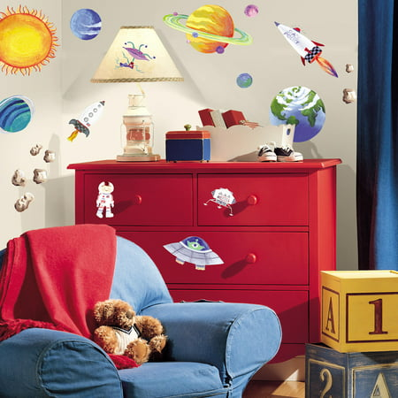 Roommates Outer Space Peel And Stick Wall Decals Walmartcom