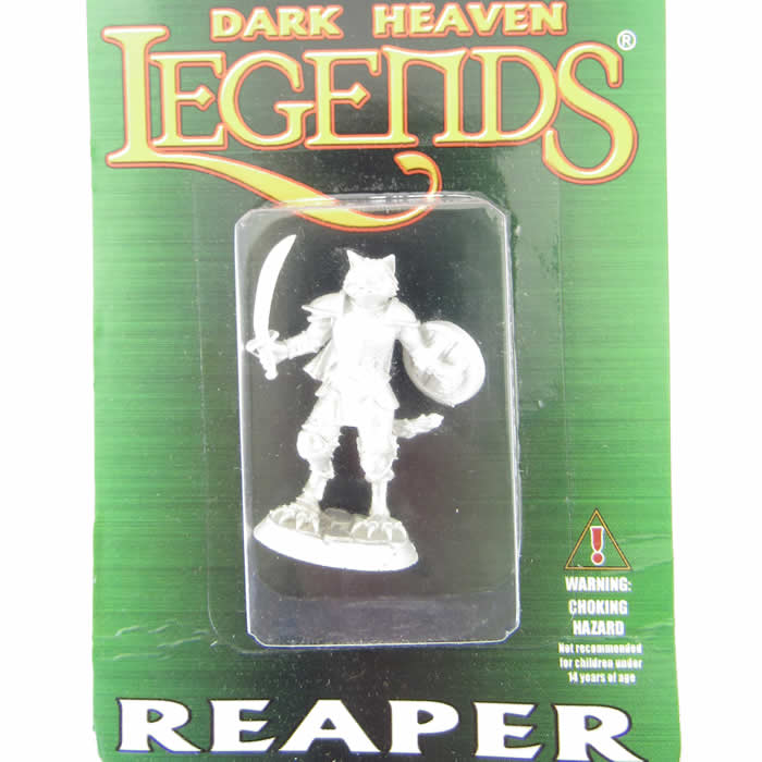 Reaper Miniatures 03928 Catfolk Paladin-Dark Heaven Legends Metal steelclaw