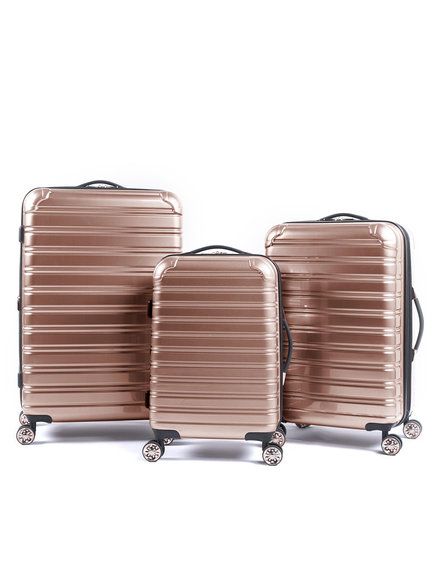 iFLY Hardside Fibertech 3 Piece Luggage Set