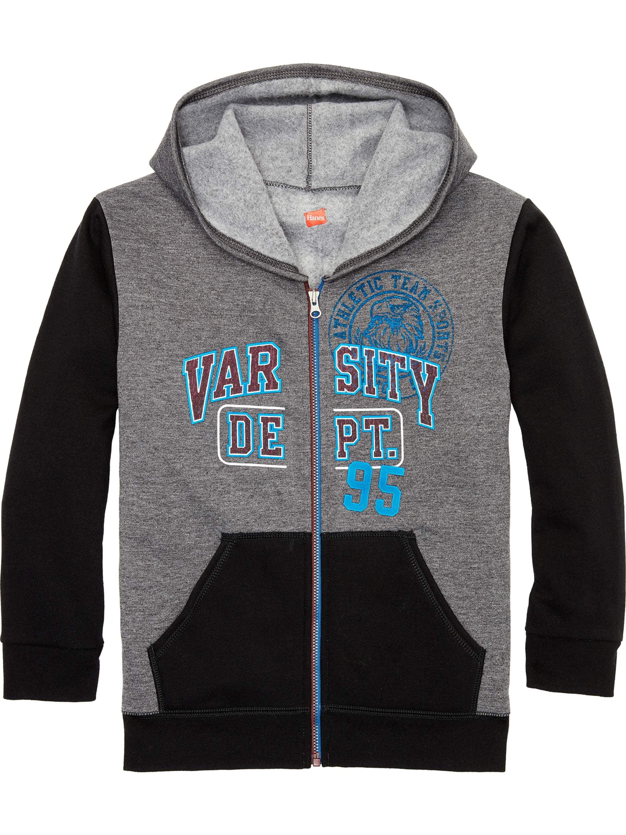 Fleece Colorblock Zip Up Hooded Sweatshirt (Little Boys & Big Boys)