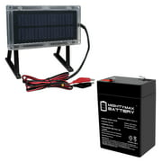 6 VOLT 4.5 AH SLA BATTERY WITH SOLAR PANEL CHARGER