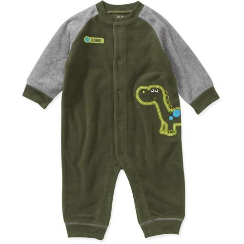 Child of Mine Carters Newborn Boys' Dino Micro Fleece Jumpsuit