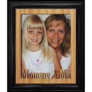 8X10 Mommy & Me Portrait Photo Laser Name Frame ~ Black Frame ~ Gift For Mom