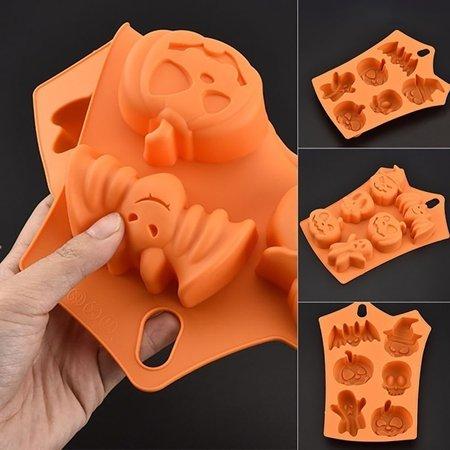 HiCoup Funny Bat Pumpkin Silicone Cake Mold Halloween Party Fondant Sweets Decor - Buy Halloween Sweets Uk