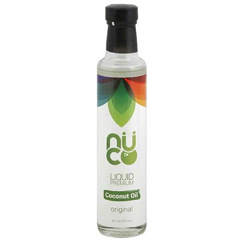 Nuco Original Liquid Premium Original Coconut Oil, 8 fl oz, (Pack of 6)
