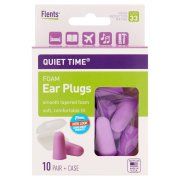 (3 Pack) Flents Plugs Quiet Time Comfort Foam Ear Plug, 20 (Saddle Ear Lobe Plugs)