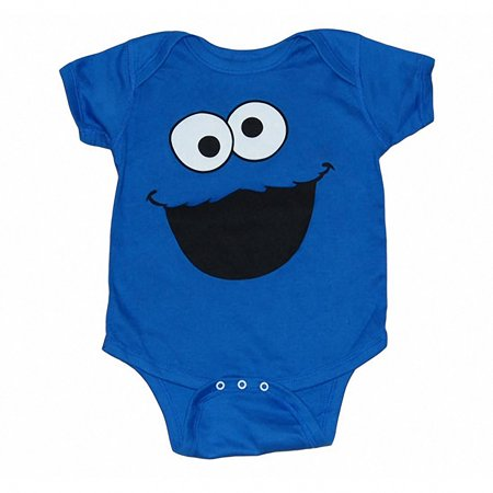 Cookie Monster Face Infant Onesie - Sully Monsters Inc Onesie