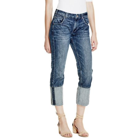 Slouch Straight Jeans (GUESS Alex Cuffed Straight Slouch Jeans )