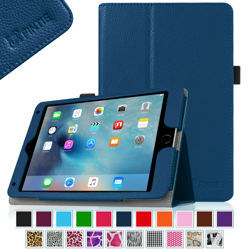 Fintie iPad mini 4 Case - Premium PU Leather Folio Case Cover with Auto Wake/ Sleep Feature,  Navy