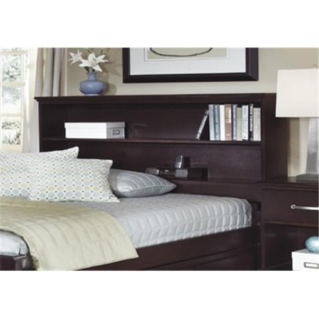 Carolina Furniture Works 477730 Headboard Bookcase 3 3 Espresso