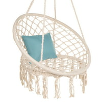 Best Choice Products Handmade Rope Hammock w/ Tassels - Beige