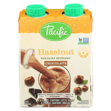 Pacific Natural Foods Non Dairy Beverage   Hazelnut Chocolate   Case Of 6   8 Fl Oz
