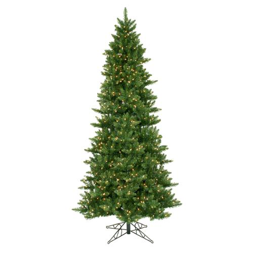 9.5' LED Lighted Slim Camdon Fir Artificial Christmas Tree - Warm White Lights