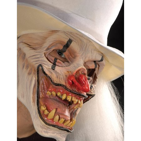 Funny Man No Mask (Zagone That's Not Funny (White) Clown Full Head Mask, Multicolors, One)