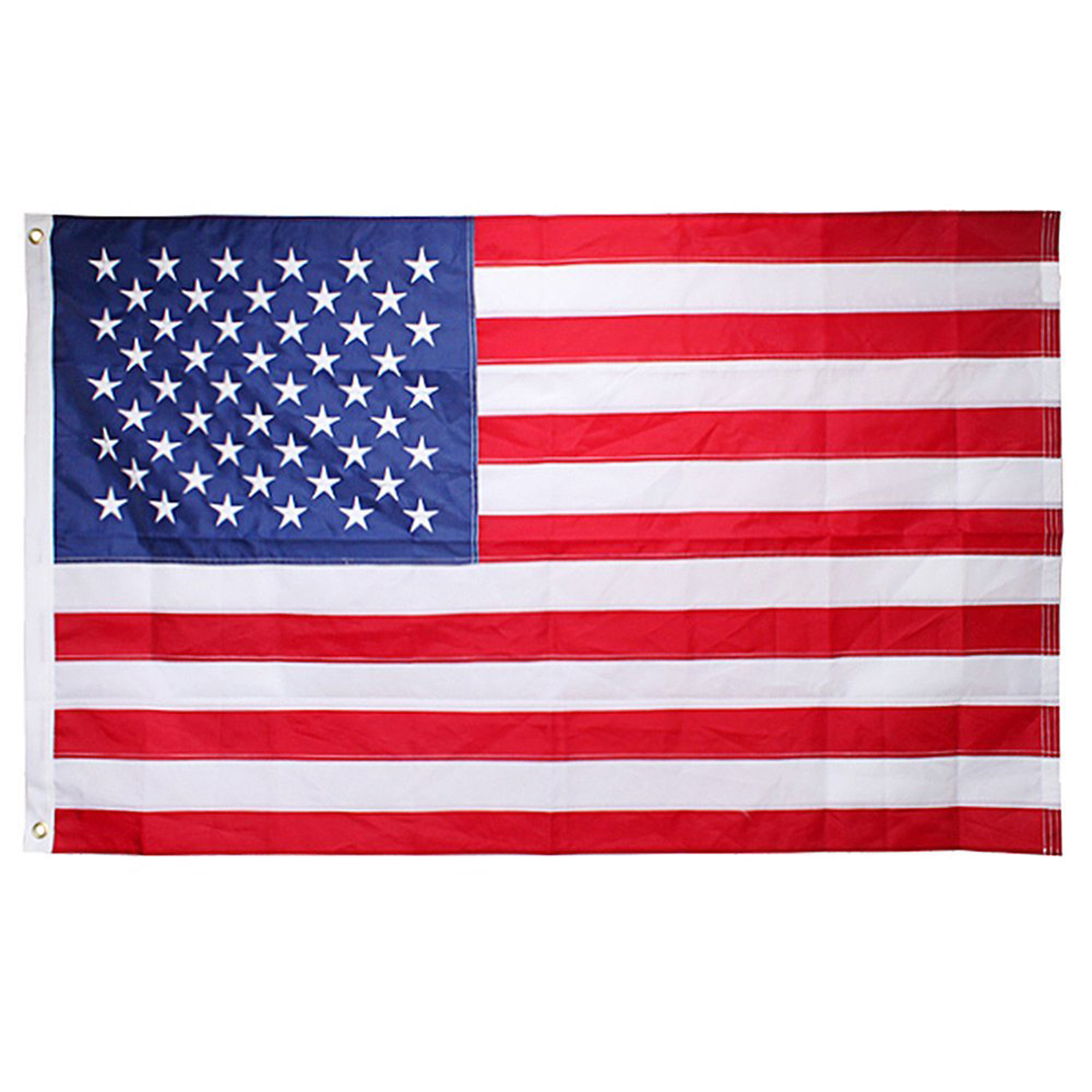 AGPtek 90x150 CM (appr 3x5 Ft) Nylon American Flag USA Flag  Embroidered  Stars