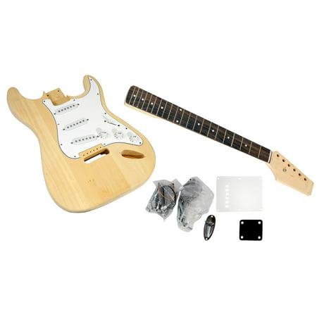 PYLE PGEKT18 - Unfinished Strat Electric Guitar Kit - You Build The Guitar ()