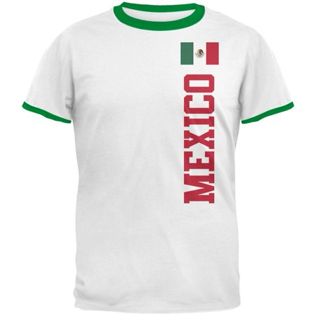Mens Ringer Tee - World Cup Mexico Mens Ringer T Shirt