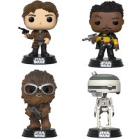 Funko POP! Star Wars Solo, A Star Wars Story Collectors Set - Han Solo, Chewie w/ Goggles, Lando Main Outfit & L3-37