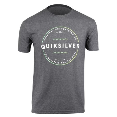 Quiksilver Mens Zone Out T-Shirt - Charcoal Heather