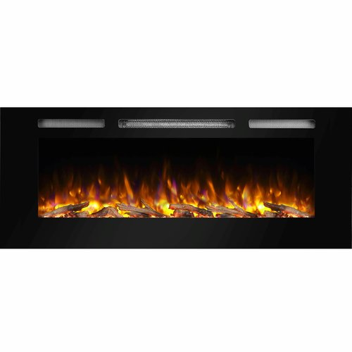 Orren Ellis Iserman Recessed Wall Mounted Electric Fireplace Insert