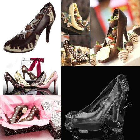 3D High Heel Shoe Chocolate Mould Candy Cake Jelly Mold Wedding Decorating DIY 3 D Candy Molds