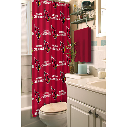 Arizona Cardinals Decorative Bath Collection - Shower Curtain