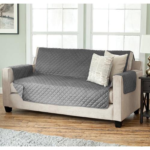 Charlton Home Carnside Diamond Box Cushion Sofa Slipcover by