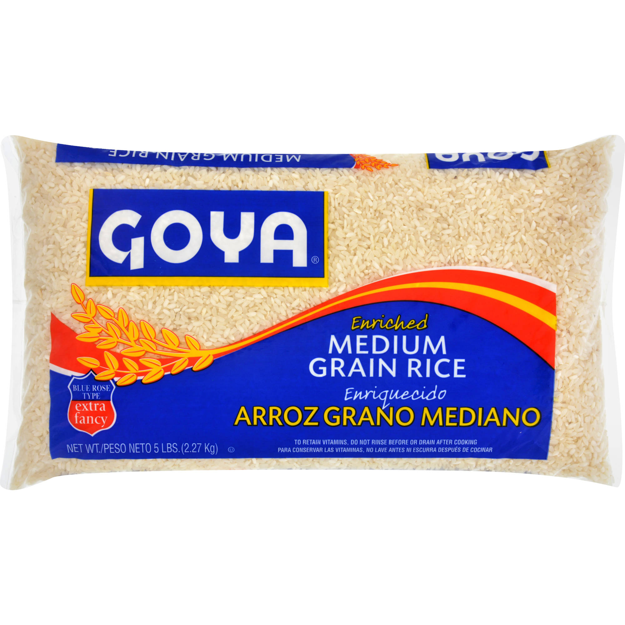 Goya Medium Grain Rice, 5 lbs