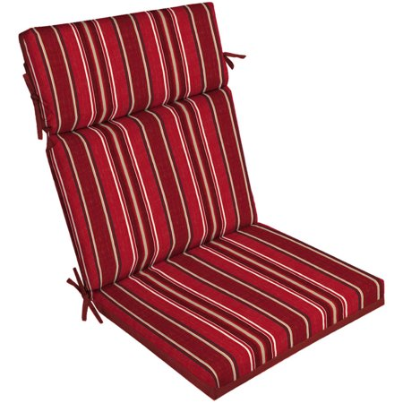 gardens outdoor patio reversible dining chair cushion