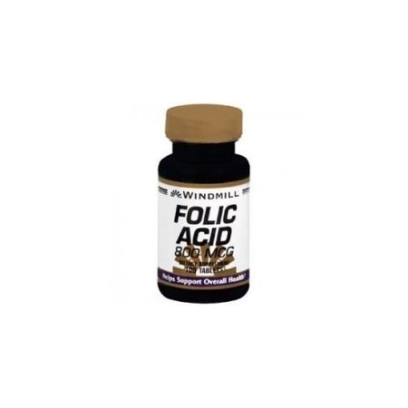 2 Pack Windmill Folic Acid 800 mcg Tablets 100 (Difference Between Folic Acid And L Methylfolate)