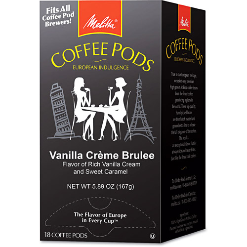 Melitta Vanilla Creme Brulee Coffee Pods, 18 count