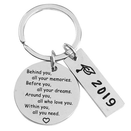 Fancyleo College Graduation Gifts for Her 2019 Behind You All Your Memories Before You All Your Dream Graduation Keychain Inspirational Graduates Key Chains ()