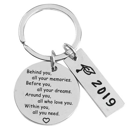 Fancyleo College Graduation Gifts for Her 2019 Behind You All Your Memories Before You All Your Dream Graduation Keychain Inspirational Graduates Key - Elmo Keychain