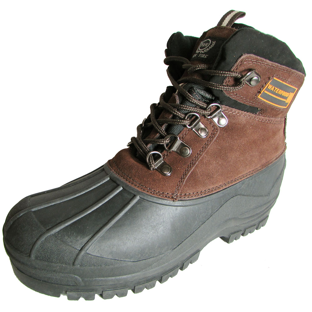 p w new york mens 138 duck boot leather waterproof boot