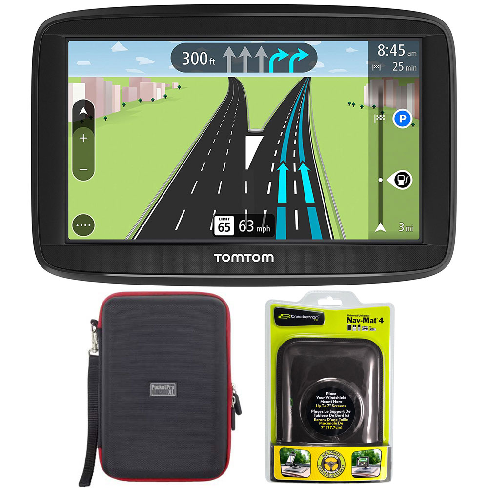 """TomTom VIA 1625M 6"""" Touchscreen GPS Navigation Device Lifetime Maps w  Case and Mount by TomTom"""