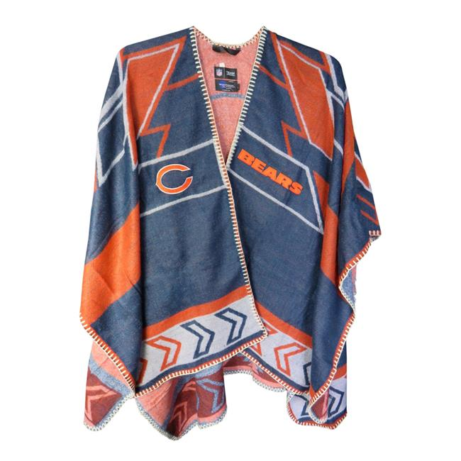 Chicago Bears Team Whipstitch Poncho by MyTeam
